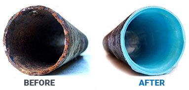 DDs Epoxy Pipe Specialists CIPP, Cured-In-Place Pipe Before and After